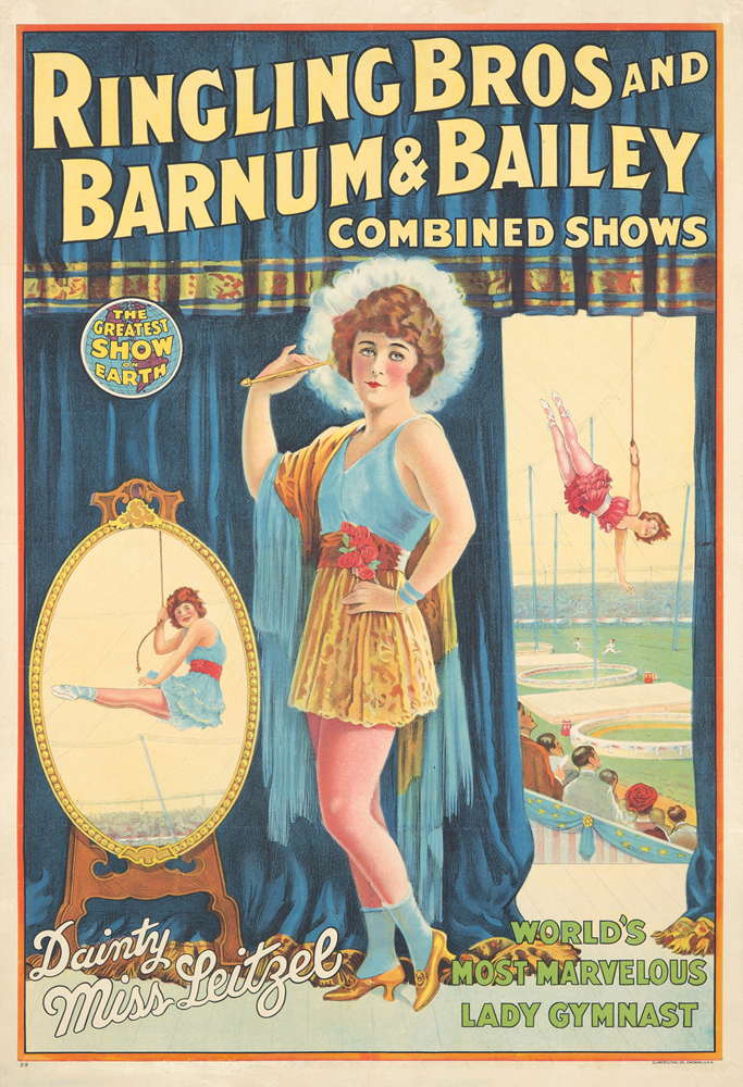 Ringling Bros and Barnum & Bailey / Dainty Miss Leitzel. 1929