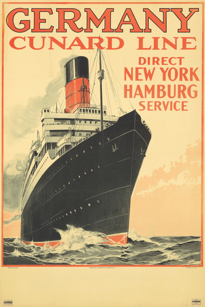 Cunard Line / Germany. ca. 1912