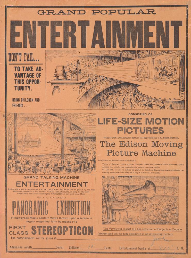 The Edison Moving Picture Machine. 1896