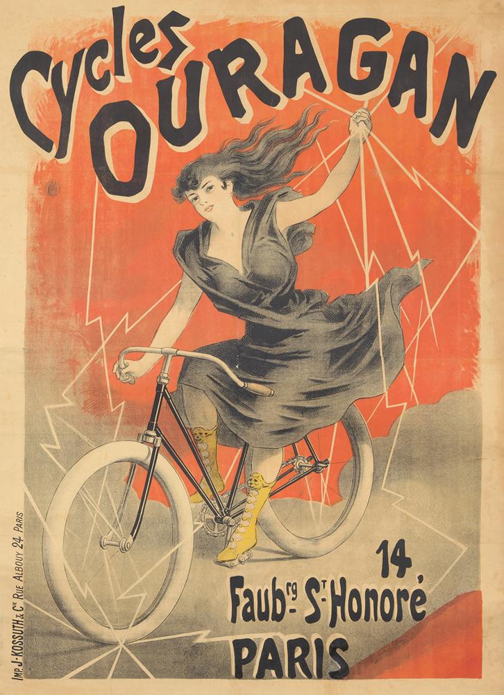 Cycles Ouragan. ca. 1895