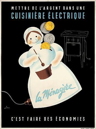 La Ménagère/Cuisinière Electrique.