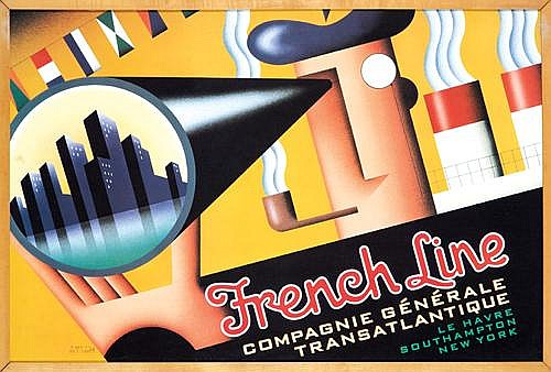 French Line/Transatlantique.Artist: Terry Allen