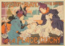 Exposition de Blanc / Place Clichy. 1898.