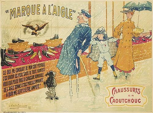 POSTER: EUGÈNE VAVASSEUR (1863-1949) - Marque à l'Aigle.