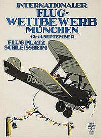 POSTER: SIEGM. V. SUCHODOLSKI (1875-1935) - Internationaler Flug-Wettbewerb, München.