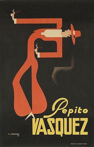 POSTER: Tito Livio de Madrazo (1899-1979) - Pepito Vasquez.