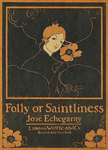 POSTER: ETHEL  REED (1876-?) - Folly or Saintliness.
