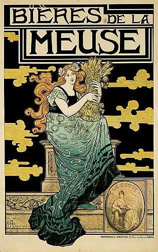 POSTER: MARC AUGUSTE BASTARD (1863-1926) - Bières de la Meuse.