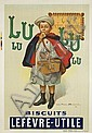 POSTER: FIRMIN BOUISSET (1859-1925) - Biscuits Lefevre-Utile / Lu-Lu., Etienne-Maurice-Firmin Bouisset, Click for value