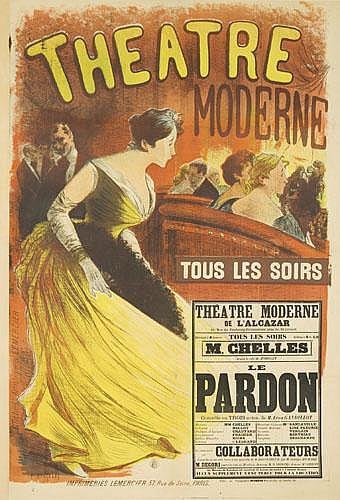 POSTER: ALBERT MANTELET-GOGUET (1858-?) - Theatre Moderne.