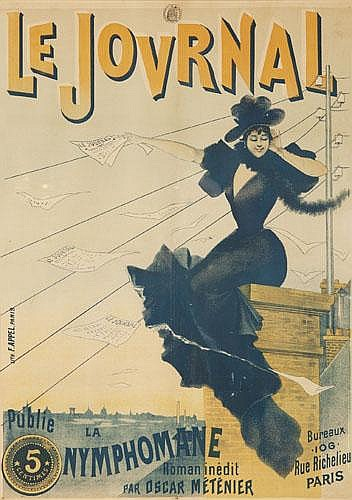 POSTER: E. CHARLE LUCAS - Le Journal / Nymphomane.