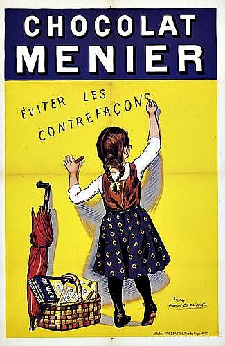 FIRMIN BOUISSET (1859-1925)Chocolat Menier/Eviter les Contrefacons.