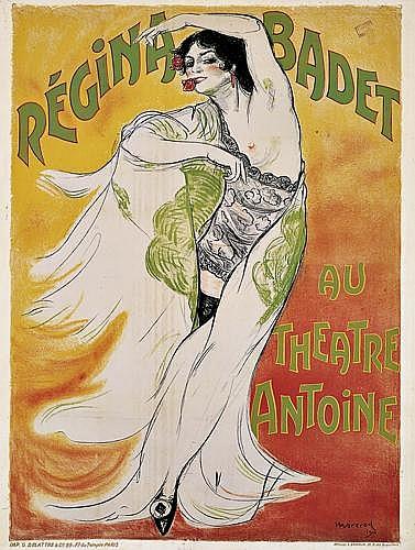 EDOUARD MOREROD (1879-1919)Régina Badet au Theatre Antoine.