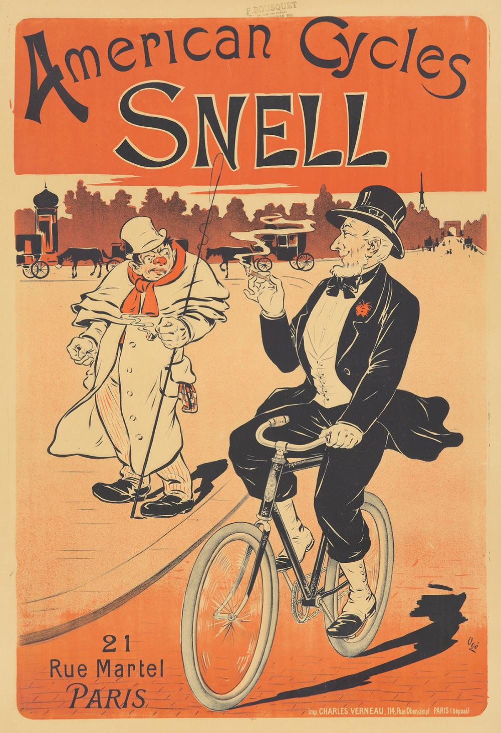 Snell American Cycles. ca. 1897.