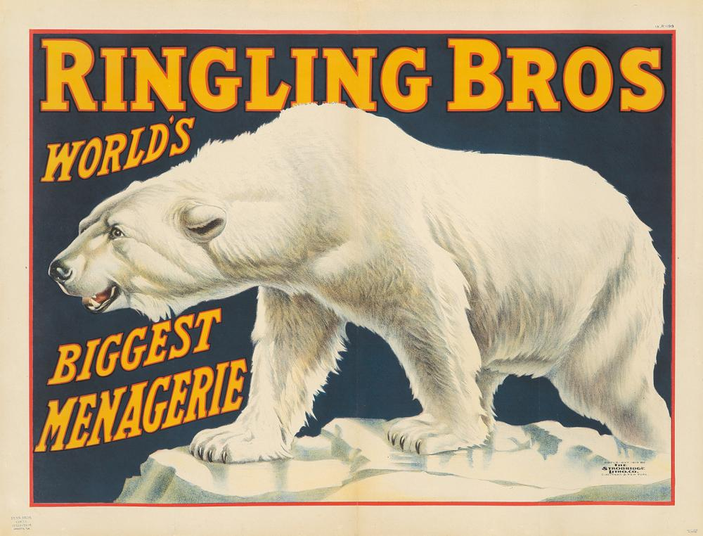 Ringling Brothers / Biggest Menagerie. 1913.
