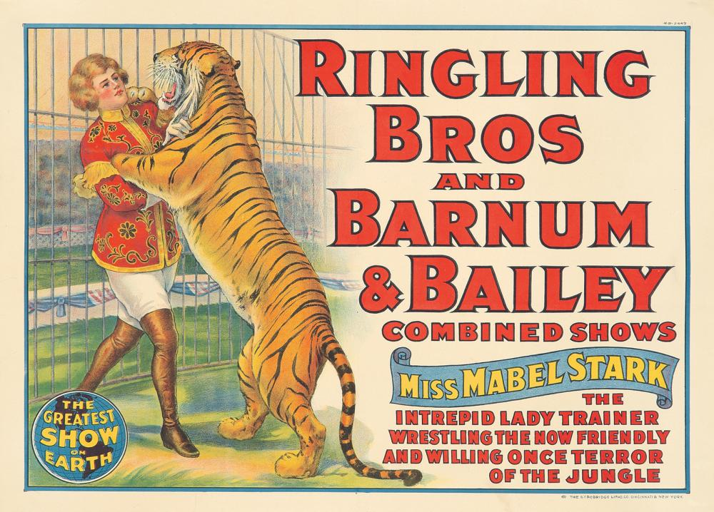 Ringling Brothers and Barnum & Bailey / Miss Mabel Stark. 1924.