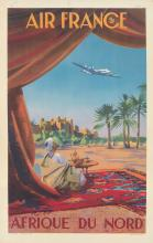 Affiche AIR FRANCE Paris New York Guerra 1951