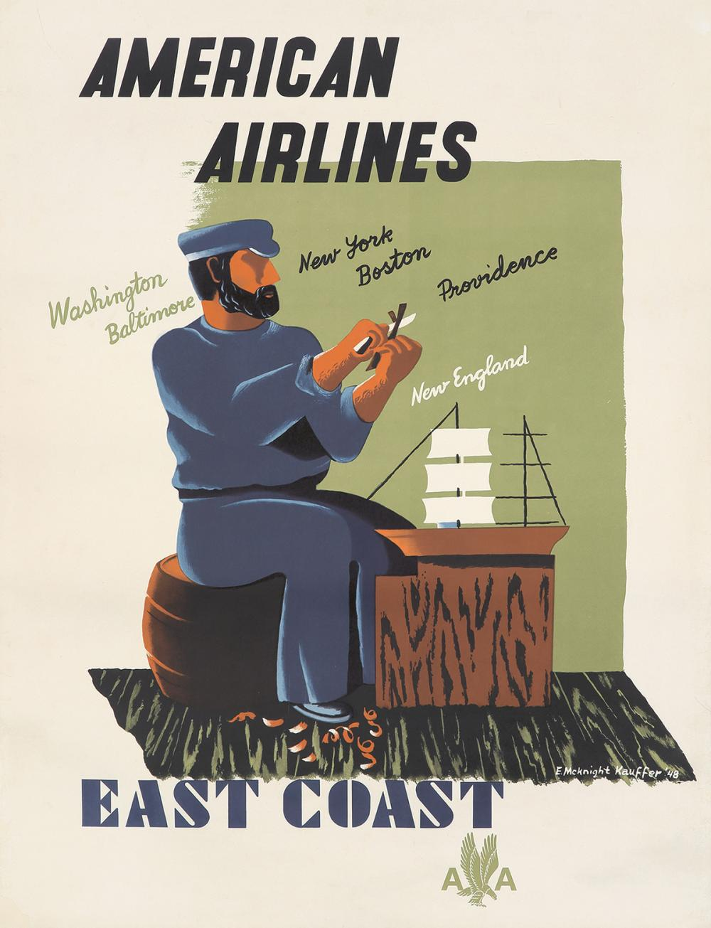 American Airlines / East Coast. 1948.