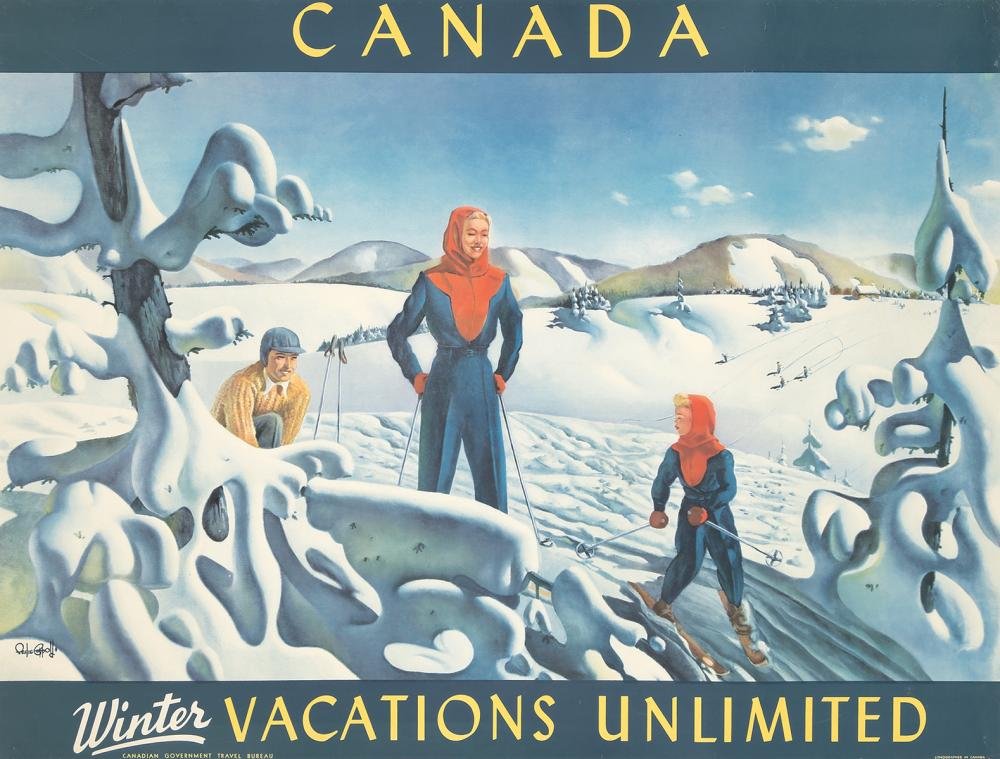 Canada / Winter Vacations Unlimited. 1947.