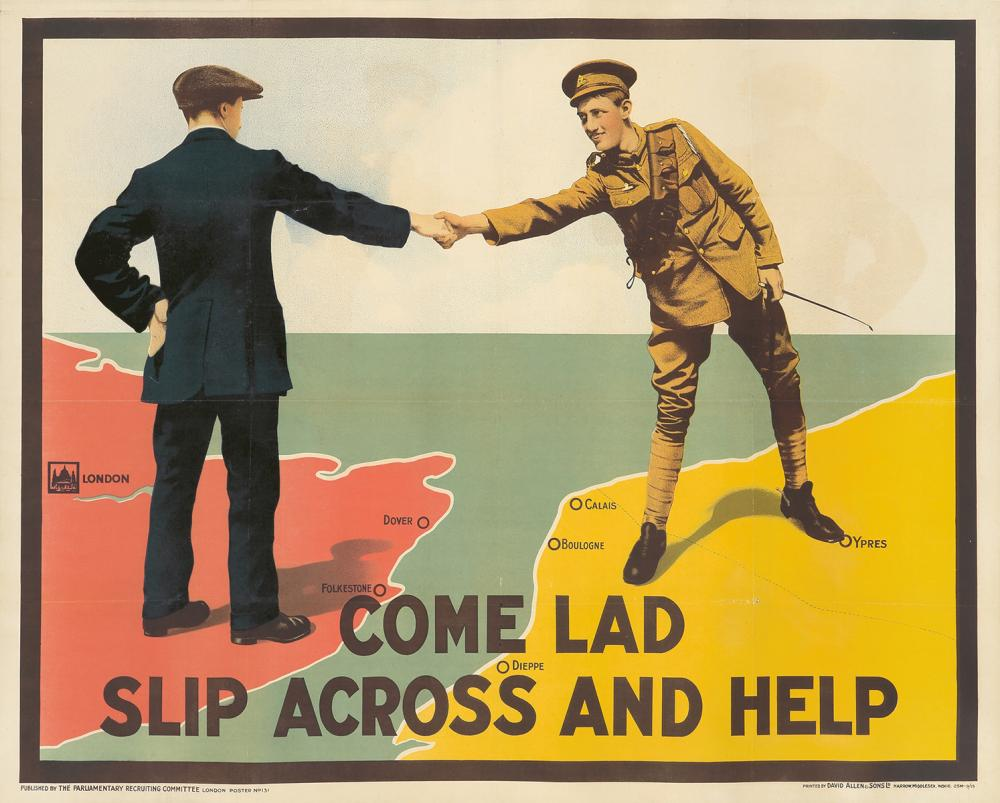 Come Lad / Slip Across and Help. 1915.