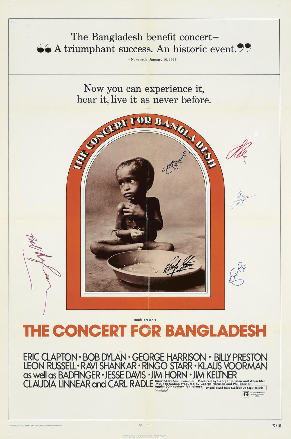 The Concert for Bangladesh. 1972.