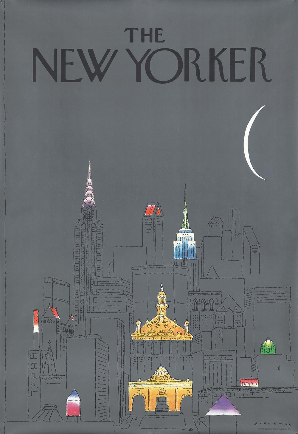 The New Yorker / New York at Night. 1979.