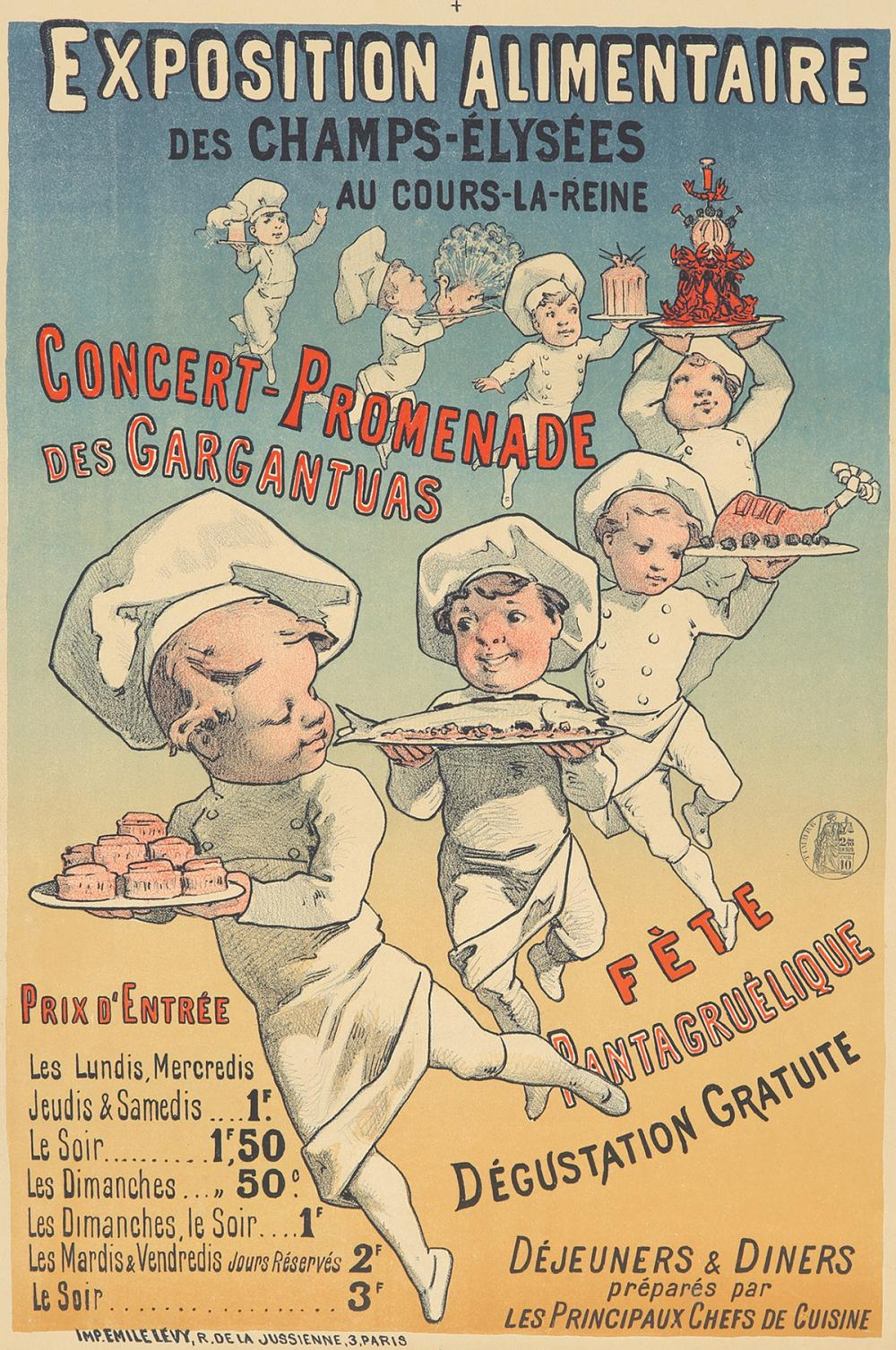 Exposition Alimentaire. ca. 1883.