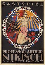 Professor Arthur Nikisch / Gastspiel. 1917