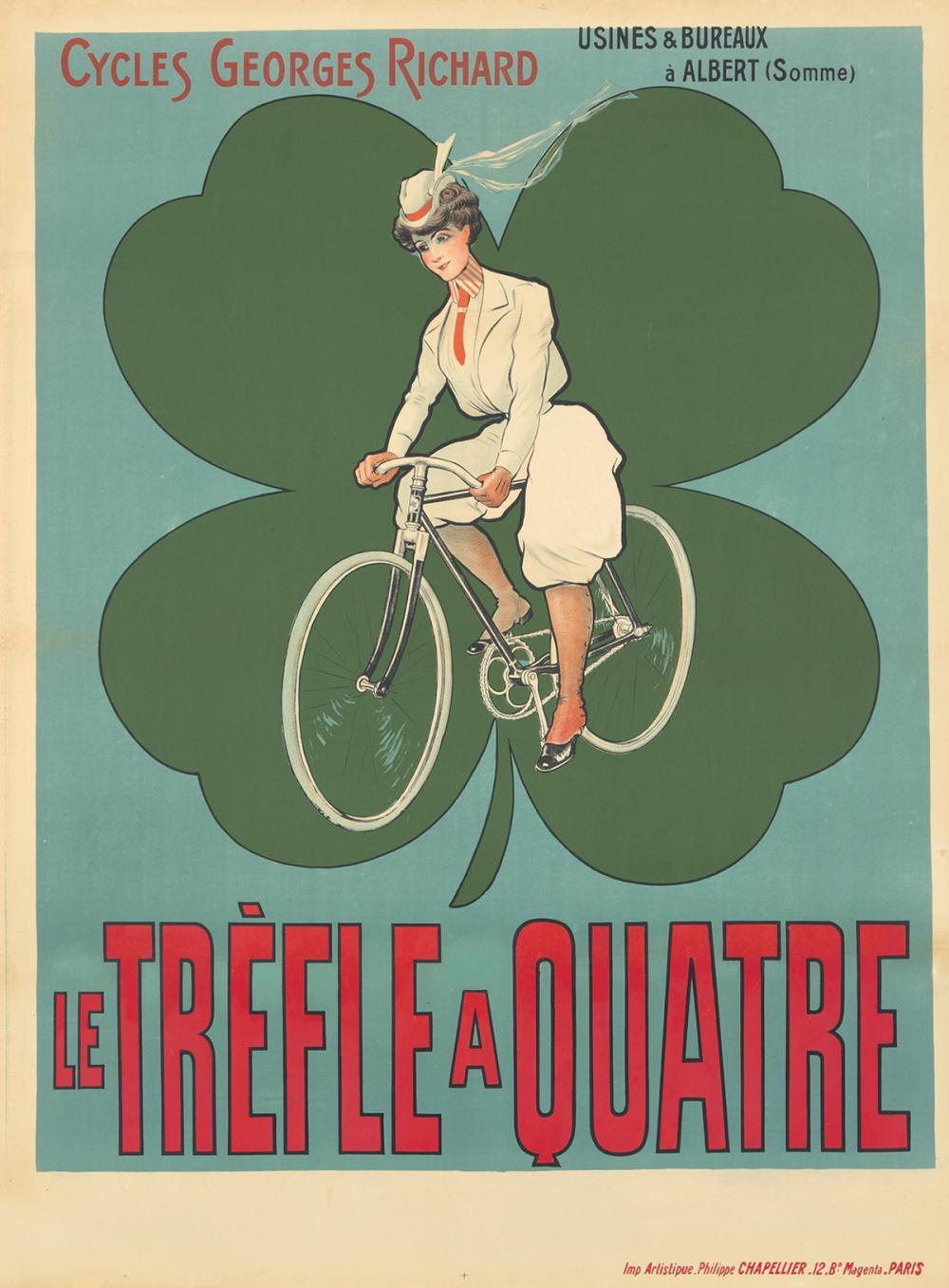 Cycles Georges Richard / Le Tréfle a Quatre. ca. 1895.