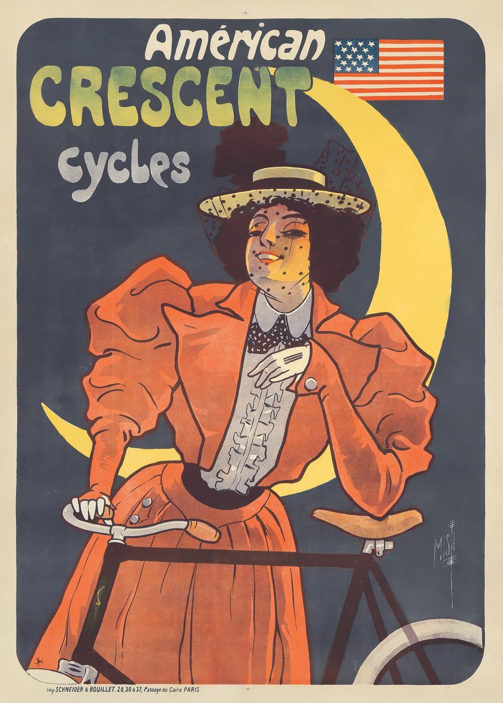 Américan Crescent Cycles. 1897.