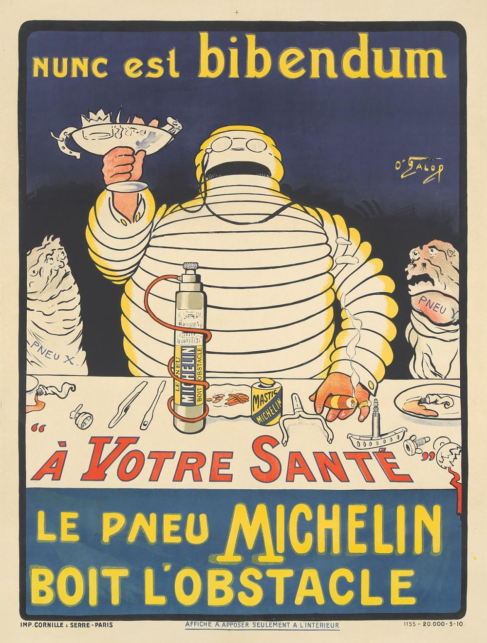 Le Pneu Michelin / Nunc est bibendum. 1896.