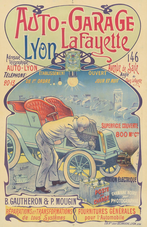 Auto-Garage Lafayette. ca. 1895.