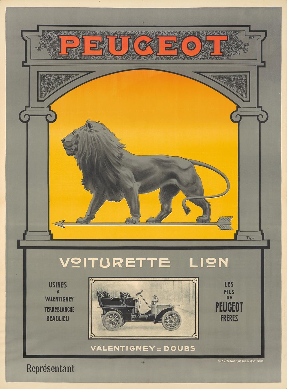 Peugeot / Voiturette Lion. ca. 1910.