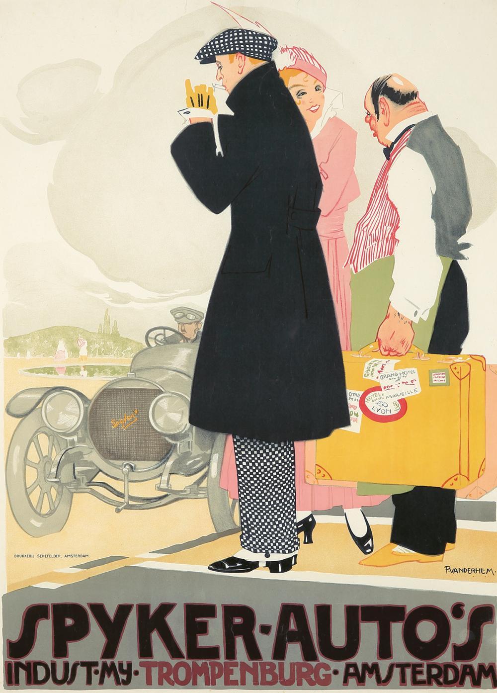 Spyker-Auto's. ca. 1920.