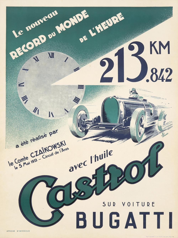 Castrol / Bugatti. 1933.