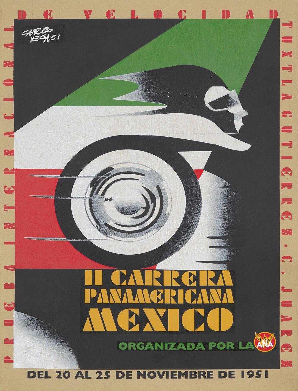 Il Carrera Panamericana Mexico. 1951.