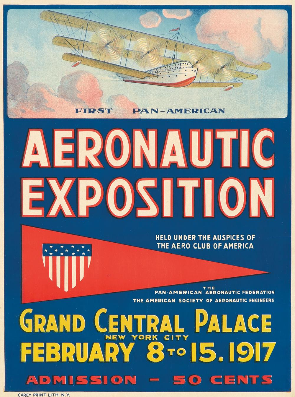 First Pan-American Aeronautic Exposition. 1917.