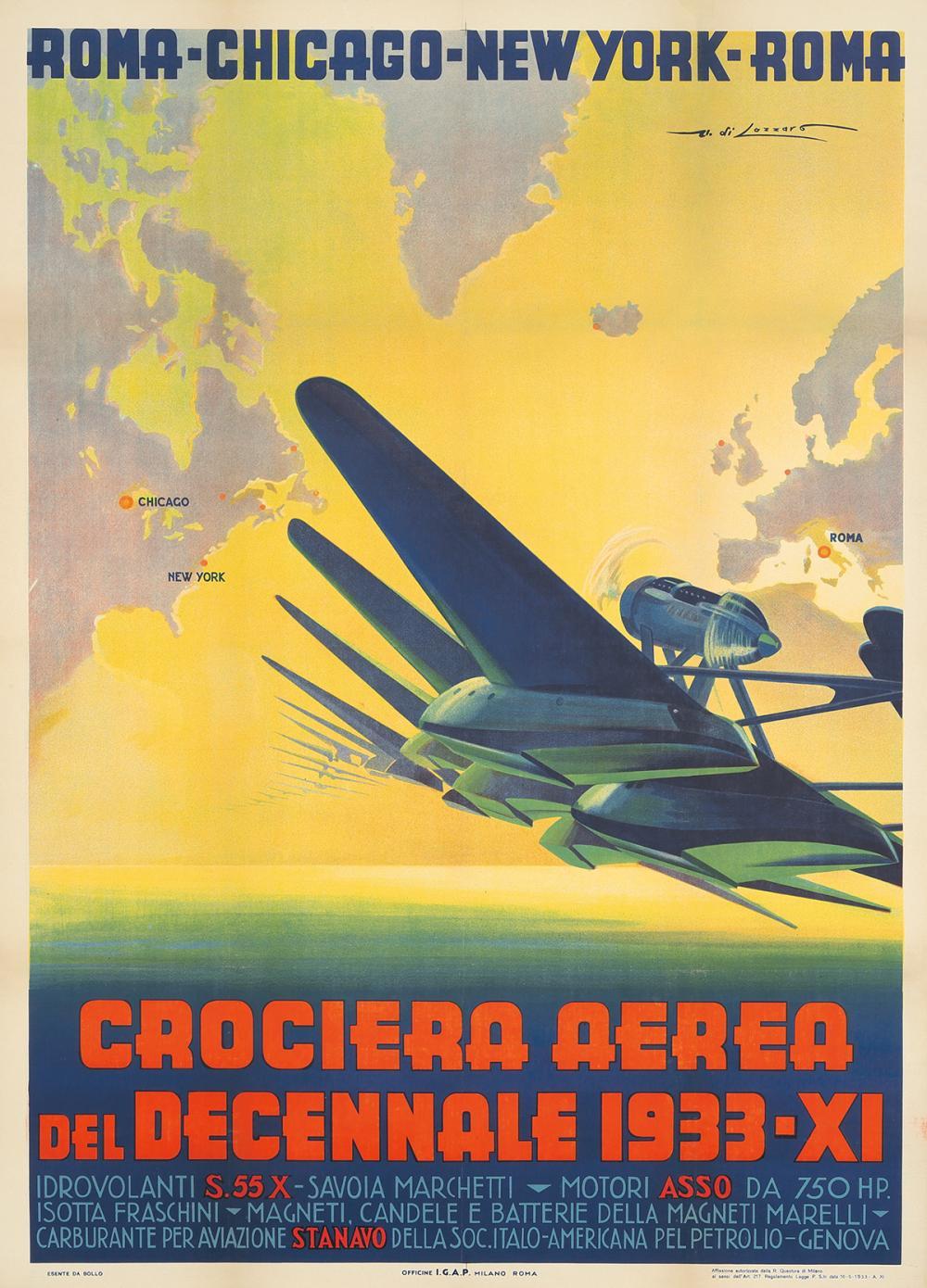 Crociera Aerea Decennale. 1933.