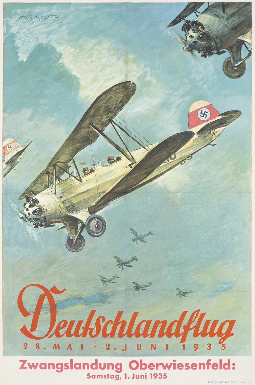 Deutschlandflug. 1935.