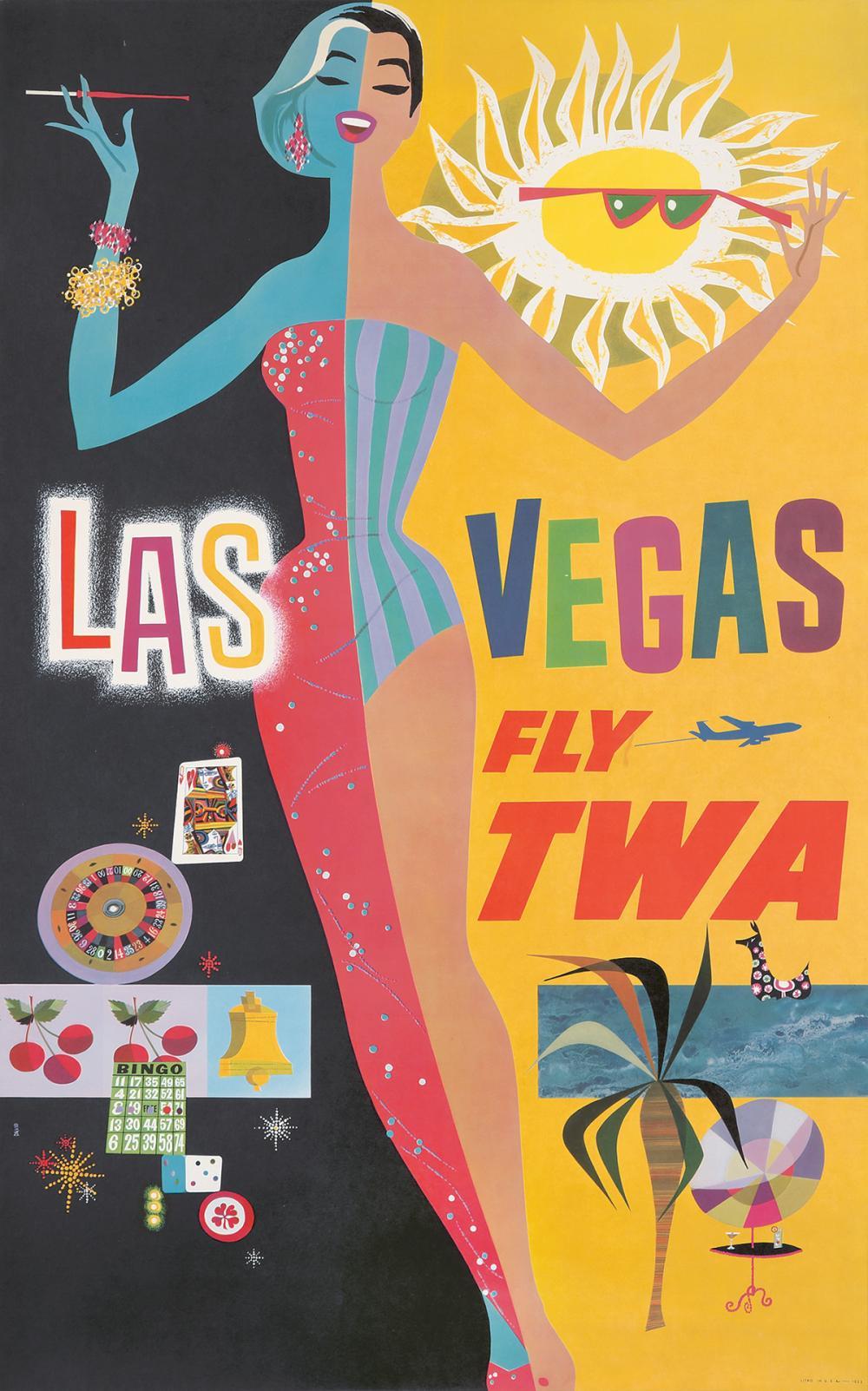 TWA / Las Vegas. 1950.