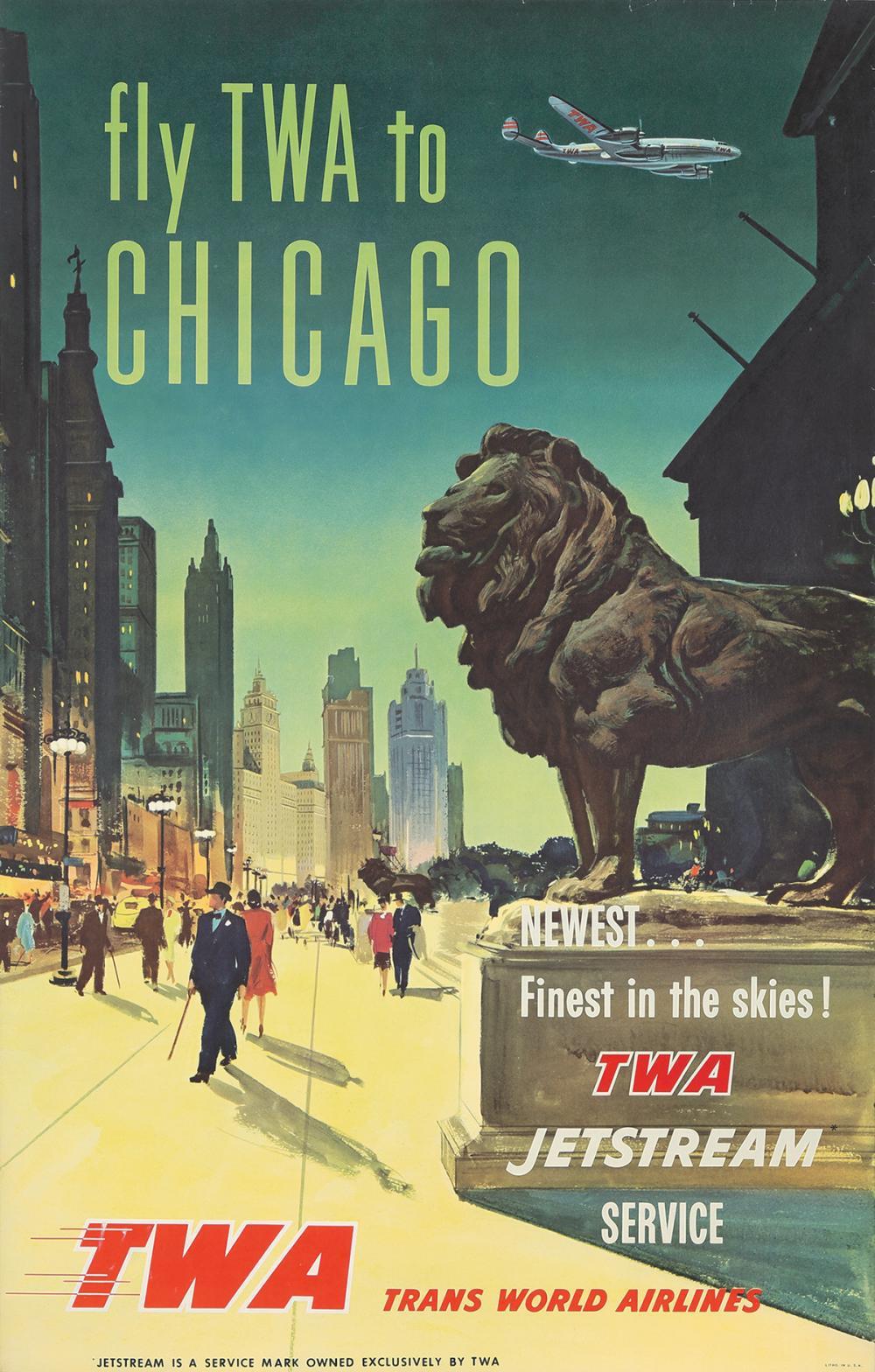 TWA / Chicago. ca. 1950.
