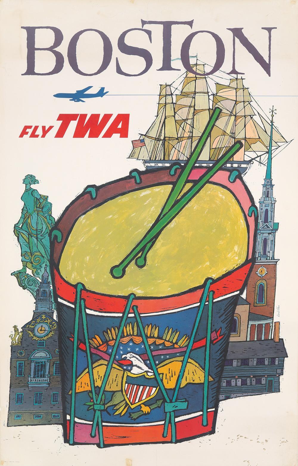 TWA / Boston. 1955.
