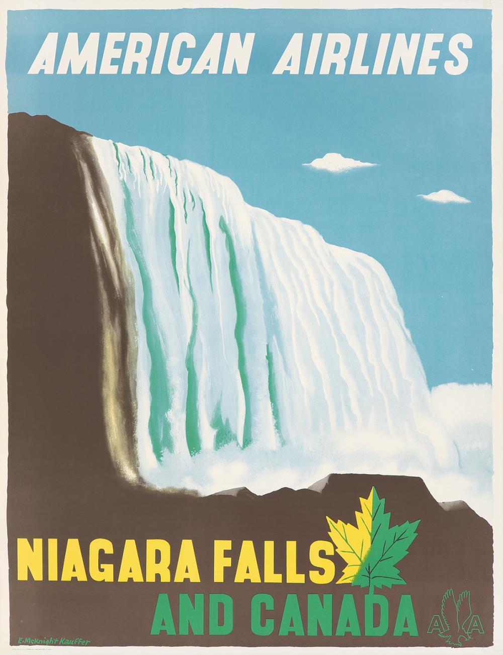 American Airlines / Niagara Falls. ca. 1948.