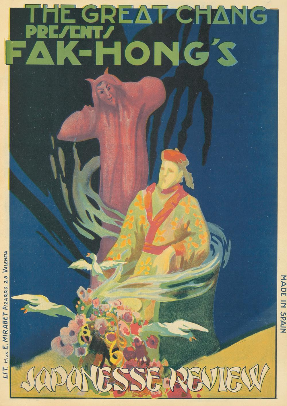 The Great Chang presents Fak-Hong's Japanesse Review. ca. 1923.