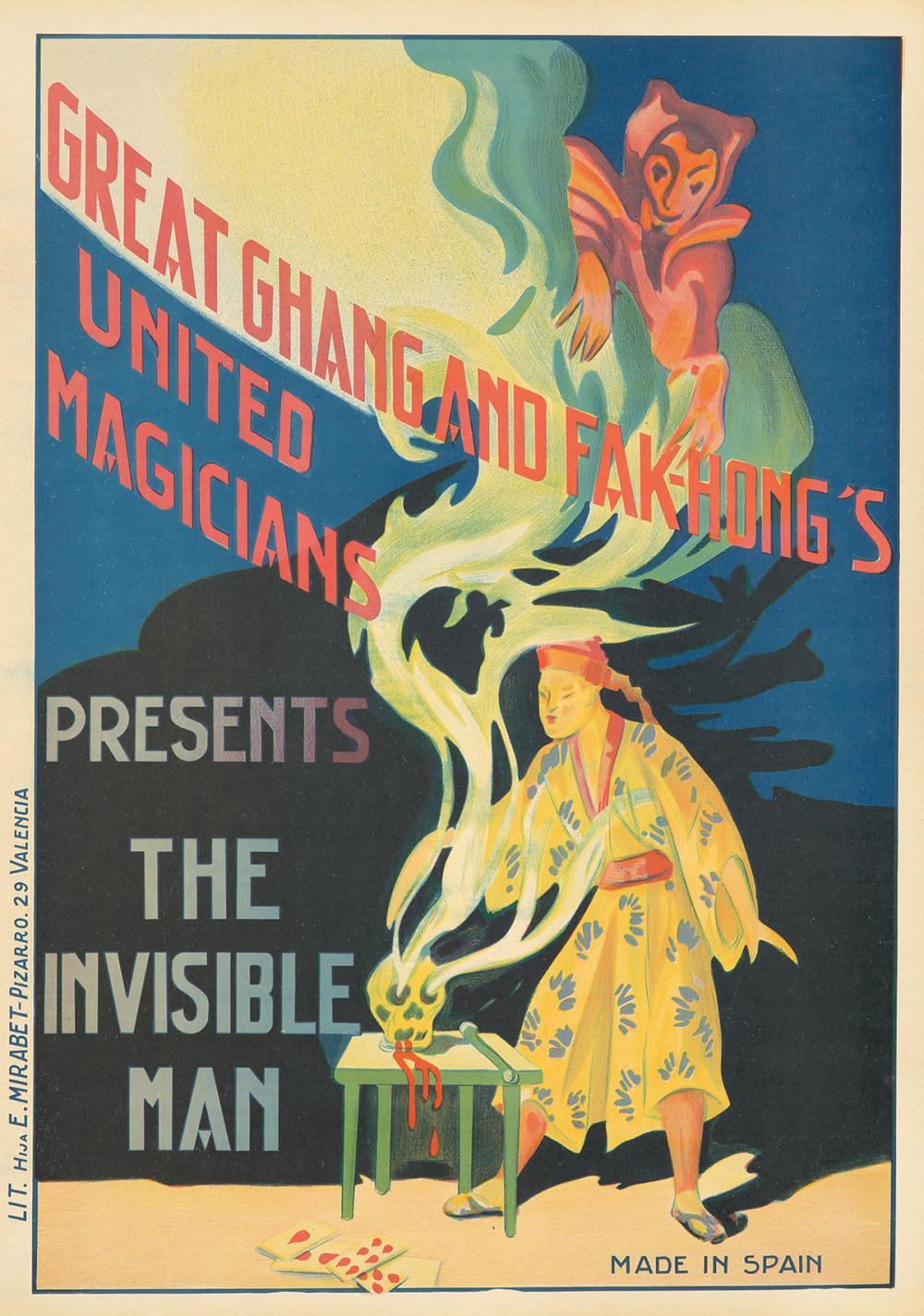 Great Chang and Fak-Hong's / The Invisible Man. ca. 1922.