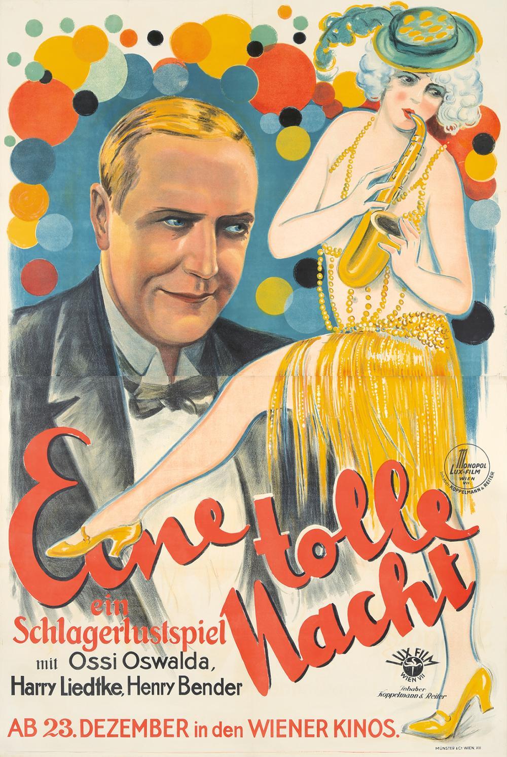 Eine tolle Nacht. 1927.
