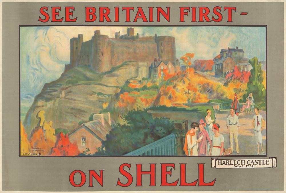 Shell / Harlech Castle. ca. 1925.