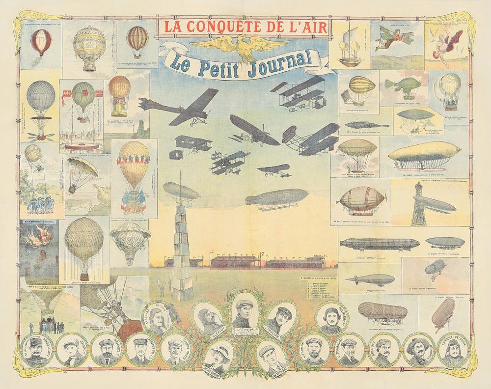 Le Conquete de L'Air / Le Petit Journal. 1909.