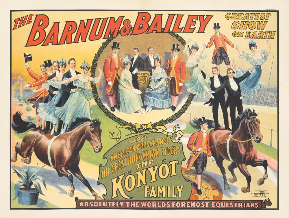 Barnum & Bailey / The Könyöt Family. 1909.