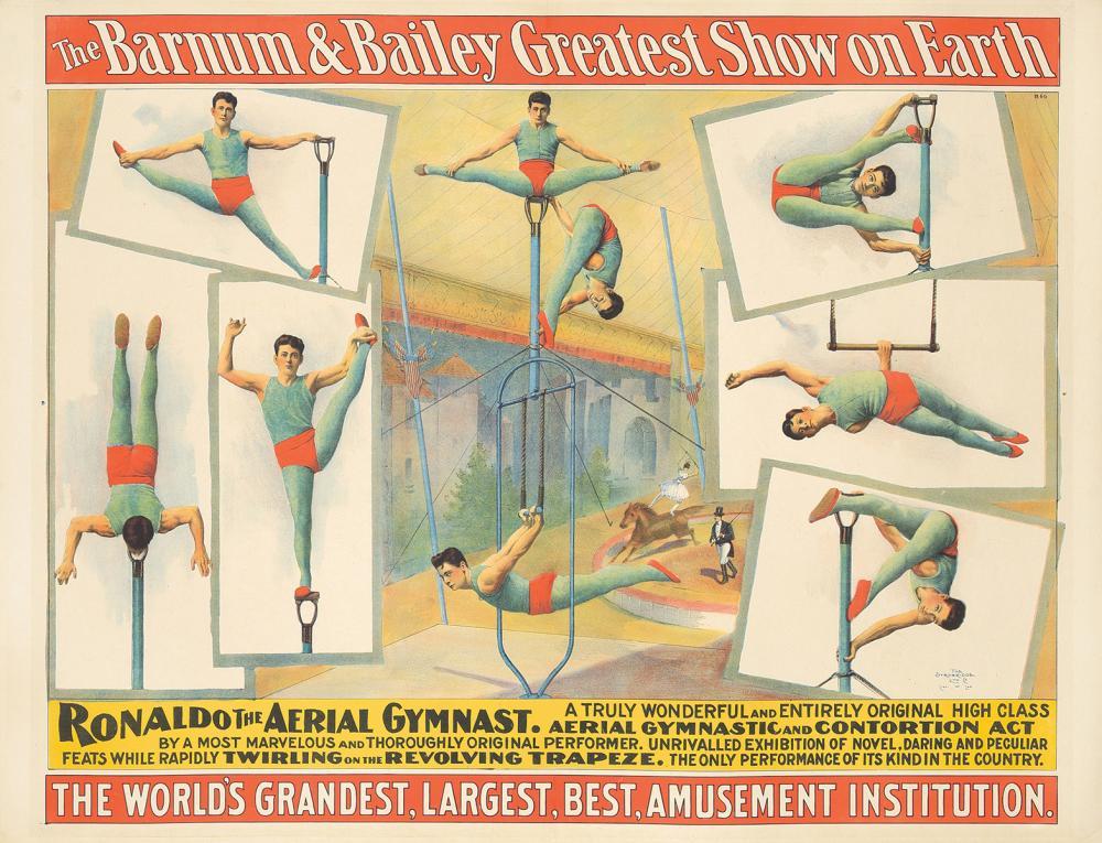 Barnum & Bailey / Ronaldo The Aerial Gymnast.